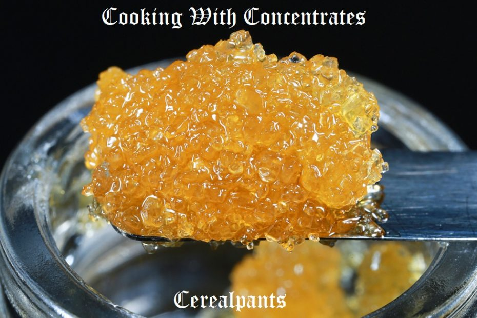 COOKING WITH CONCENTRATES